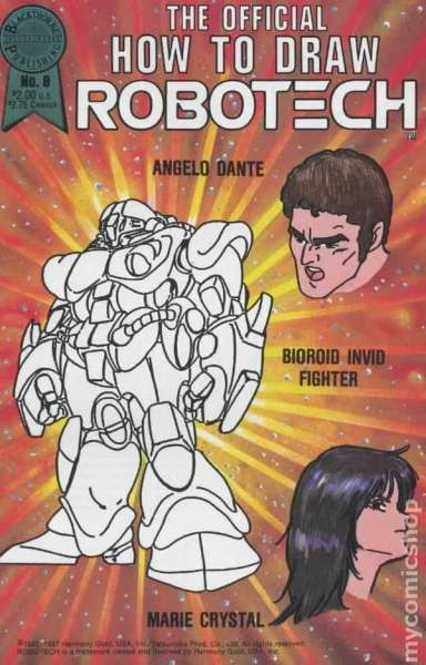 Official How to Draw Robotech #8 comic books - cover scans photos Official How to Draw Robotech #8 comic books - covers, picture gallery