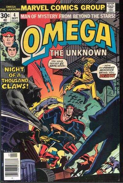 Omega the Unknown #4 comic books - cover scans photos Omega the Unknown #4 comic books - covers, picture gallery