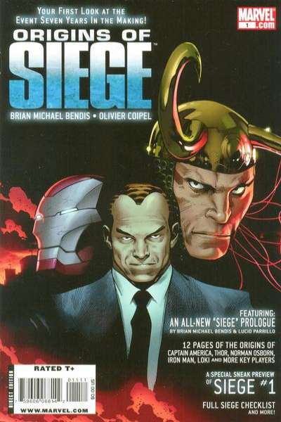 Origins of Siege #1 comic books - cover scans photos Origins of Siege #1 comic books - covers, picture gallery