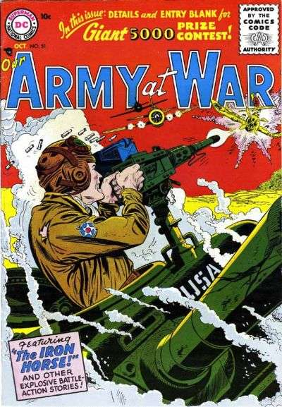 Our Army at War #51 Comic Books - Covers, Scans, Photos  in Our Army at War Comic Books - Covers, Scans, Gallery
