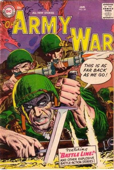 Our Army at War #54 Comic Books - Covers, Scans, Photos  in Our Army at War Comic Books - Covers, Scans, Gallery