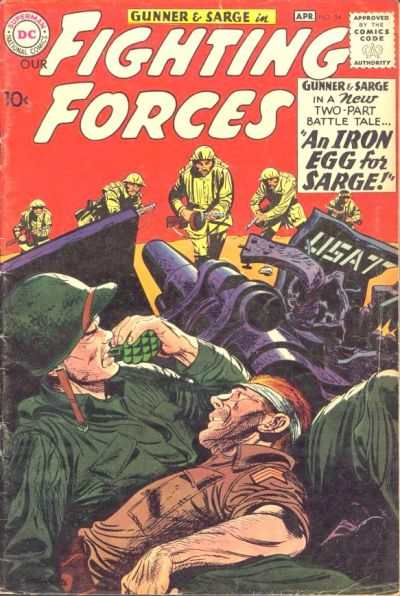 Our Fighting Forces #54 comic books - cover scans photos Our Fighting Forces #54 comic books - covers, picture gallery