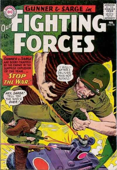 Our Fighting Forces #90 comic books - cover scans photos Our Fighting Forces #90 comic books - covers, picture gallery