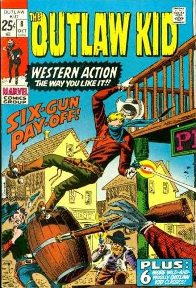 Outlaw Kid #8 Comic Books - Covers, Scans, Photos  in Outlaw Kid Comic Books - Covers, Scans, Gallery
