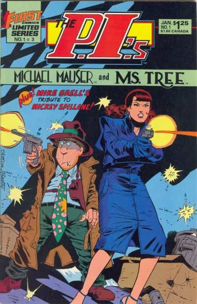 P.I.'s: Michael Mauser and Ms. Tree #1 comic books - cover scans photos P.I.'s: Michael Mauser and Ms. Tree #1 comic books - covers, picture gallery