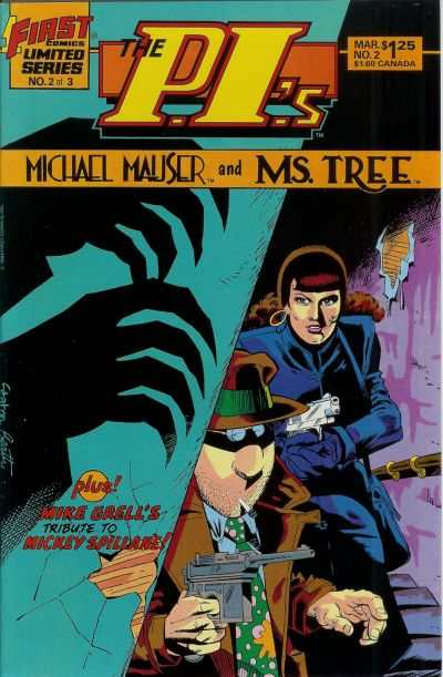 P.I.'s: Michael Mauser and Ms. Tree #2 comic books - cover scans photos P.I.'s: Michael Mauser and Ms. Tree #2 comic books - covers, picture gallery