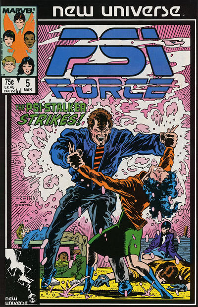 PSI-Force #5 Comic Books - Covers, Scans, Photos  in PSI-Force Comic Books - Covers, Scans, Gallery
