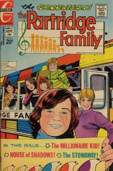Partridge Family #20 Comic Books - Covers, Scans, Photos  in Partridge Family Comic Books - Covers, Scans, Gallery