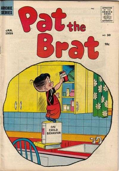 Pat The Brat #30 comic books - cover scans photos Pat The Brat #30 comic books - covers, picture gallery