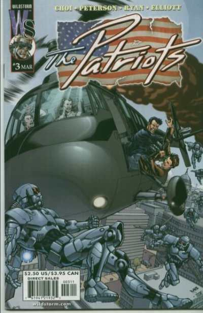 Patriots #3 comic books - cover scans photos Patriots #3 comic books - covers, picture gallery