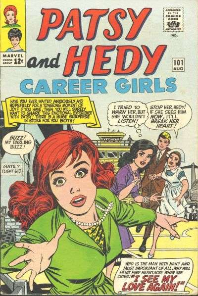 Patsy & Hedy #101 comic books - cover scans photos Patsy & Hedy #101 comic books - covers, picture gallery