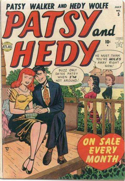 Patsy & Hedy #5 comic books - cover scans photos Patsy & Hedy #5 comic books - covers, picture gallery
