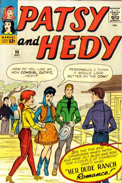 Patsy & Hedy #90 Comic Books - Covers, Scans, Photos  in Patsy & Hedy Comic Books - Covers, Scans, Gallery