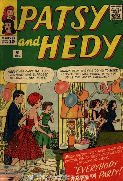 Patsy & Hedy #91 comic books - cover scans photos Patsy & Hedy #91 comic books - covers, picture gallery
