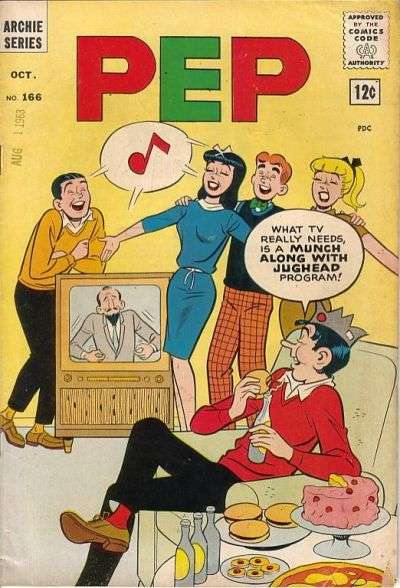 Pep Comics #166 Comic Books - Covers, Scans, Photos  in Pep Comics Comic Books - Covers, Scans, Gallery