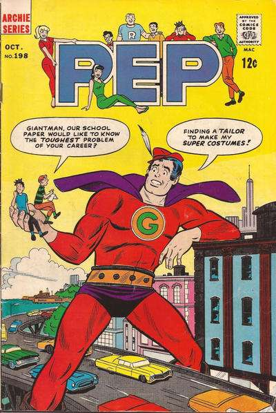 Pep Comics #198 Comic Books - Covers, Scans, Photos  in Pep Comics Comic Books - Covers, Scans, Gallery