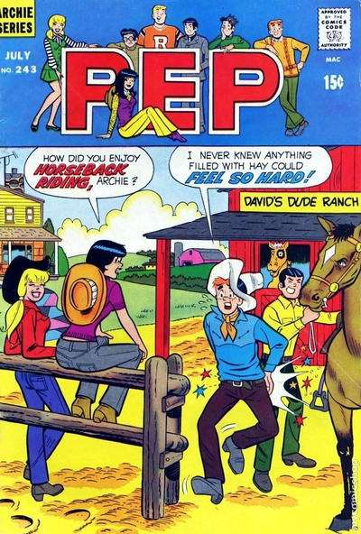 Pep Comics #243 Comic Books - Covers, Scans, Photos  in Pep Comics Comic Books - Covers, Scans, Gallery