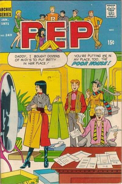 Pep Comics #249 Comic Books - Covers, Scans, Photos  in Pep Comics Comic Books - Covers, Scans, Gallery