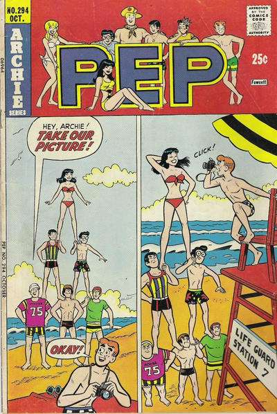 Pep Comics #294 comic books - cover scans photos Pep Comics #294 comic books - covers, picture gallery