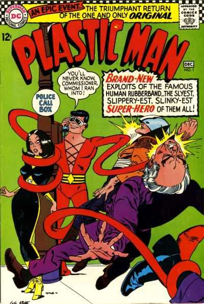 Plastic Man comic books