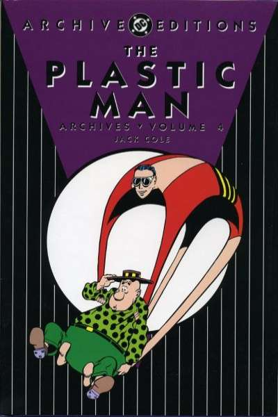 Plastic Man Archives - Hardcover #4 comic books - cover scans photos Plastic Man Archives - Hardcover #4 comic books - covers, picture gallery