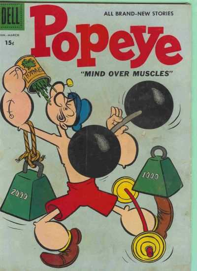 Popeye #43 Comic Books - Covers, Scans, Photos  in Popeye Comic Books - Covers, Scans, Gallery