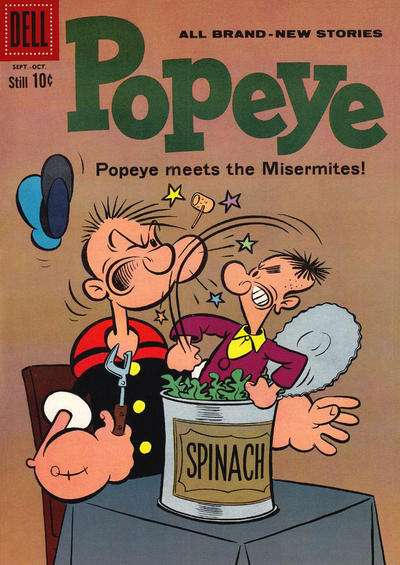 Popeye #55 Comic Books - Covers, Scans, Photos  in Popeye Comic Books - Covers, Scans, Gallery