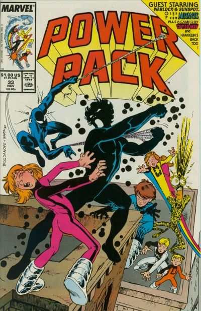 Power Pack #33 comic books - cover scans photos Power Pack #33 comic books - covers, picture gallery