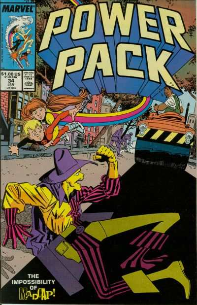 Power Pack #34 comic books - cover scans photos Power Pack #34 comic books - covers, picture gallery