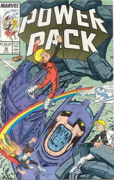 Power Pack #36 comic books - cover scans photos Power Pack #36 comic books - covers, picture gallery