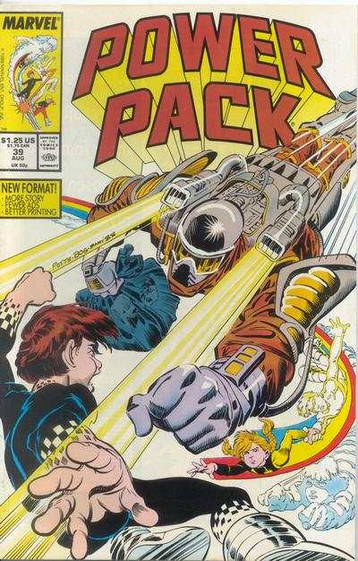Power Pack #39 comic books - cover scans photos Power Pack #39 comic books - covers, picture gallery