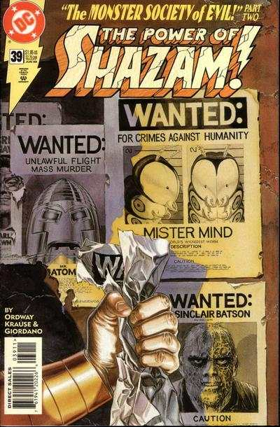 Power of Shazam! #39 Comic Books - Covers, Scans, Photos  in Power of Shazam! Comic Books - Covers, Scans, Gallery