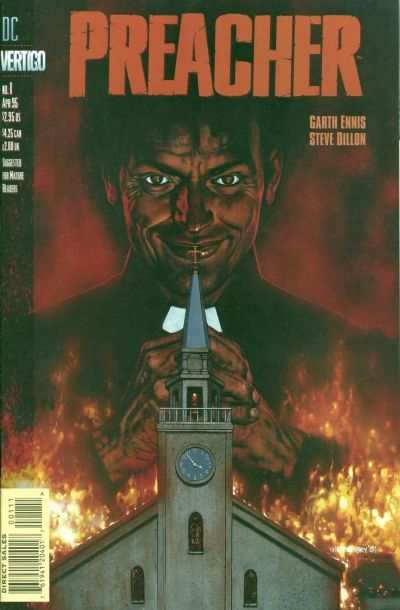 Preacher #1 Comic Books - Covers, Scans, Photos  in Preacher Comic Books - Covers, Scans, Gallery
