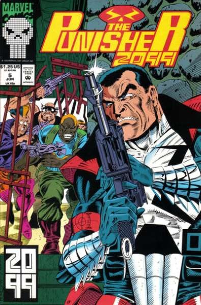 Punisher 2099 #5 Comic Books - Covers, Scans, Photos  in Punisher 2099 Comic Books - Covers, Scans, Gallery