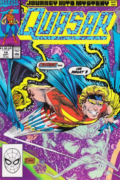 Quasar #14 Comic Books - Covers, Scans, Photos  in Quasar Comic Books - Covers, Scans, Gallery