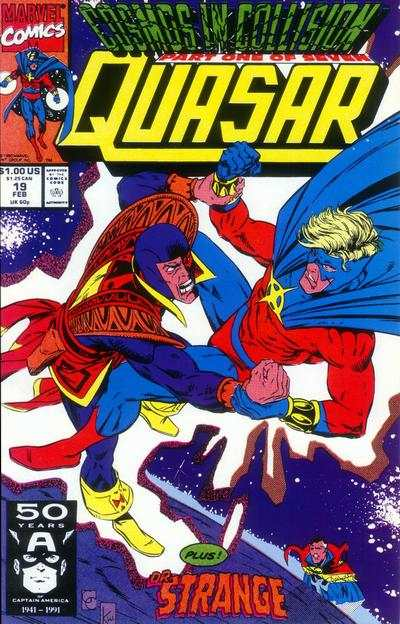 Quasar #19 comic books - cover scans photos Quasar #19 comic books - covers, picture gallery