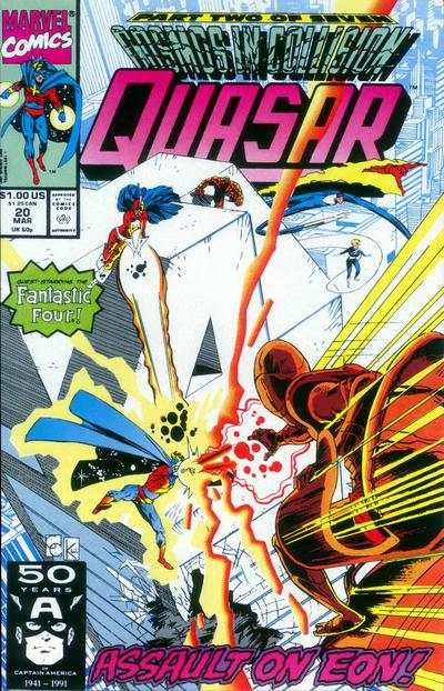 Quasar #20 comic books - cover scans photos Quasar #20 comic books - covers, picture gallery