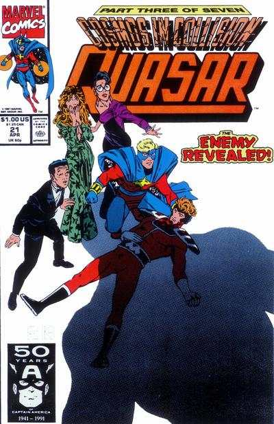 Quasar #21 comic books - cover scans photos Quasar #21 comic books - covers, picture gallery
