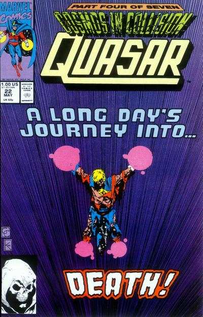 Quasar #22 comic books - cover scans photos Quasar #22 comic books - covers, picture gallery