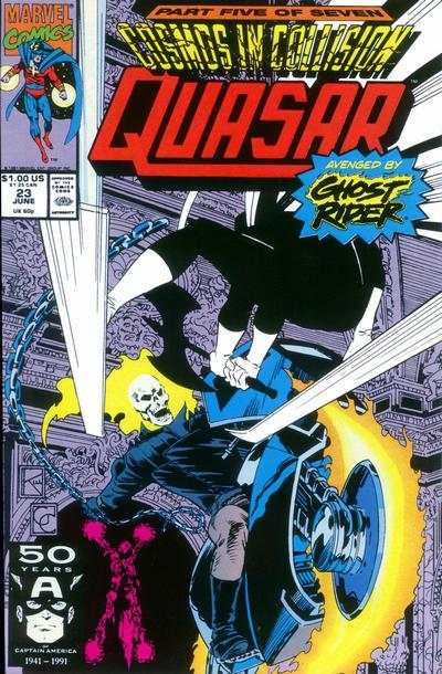 Quasar #23 comic books - cover scans photos Quasar #23 comic books - covers, picture gallery