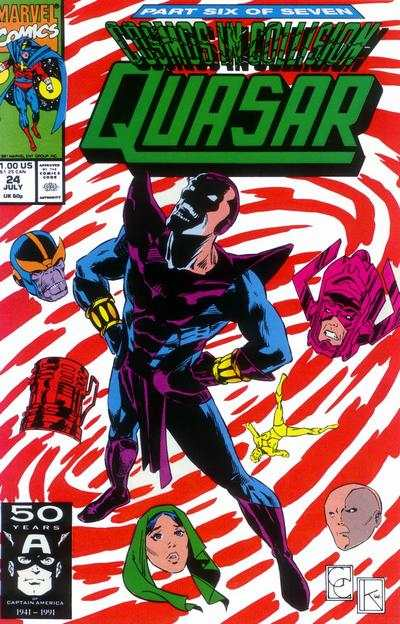Quasar #24 comic books - cover scans photos Quasar #24 comic books - covers, picture gallery