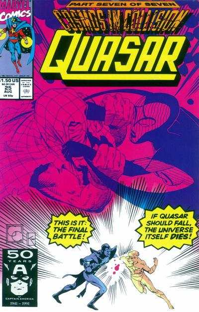 Quasar #25 comic books for sale