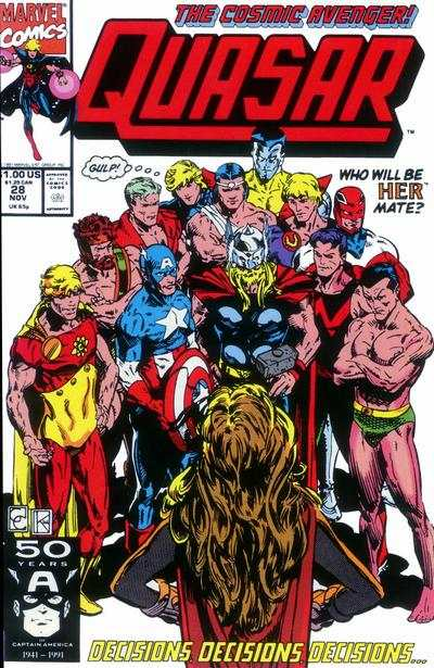 Quasar #28 comic books for sale