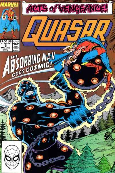 Quasar #5 Comic Books - Covers, Scans, Photos  in Quasar Comic Books - Covers, Scans, Gallery