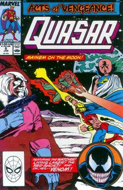 Quasar #6 Comic Books - Covers, Scans, Photos  in Quasar Comic Books - Covers, Scans, Gallery