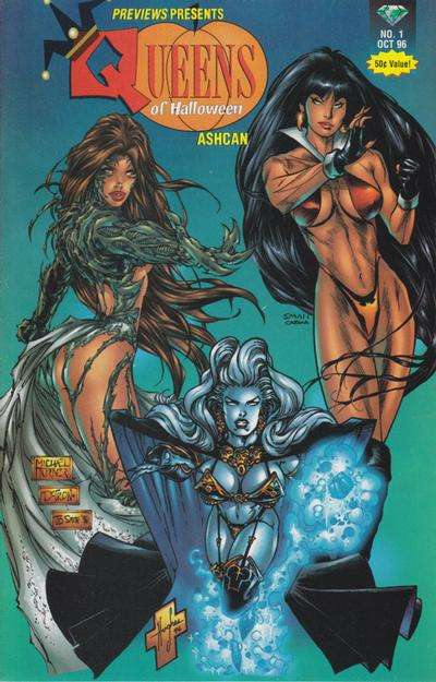 Queens of Halloween Ashcan #1 comic books for sale