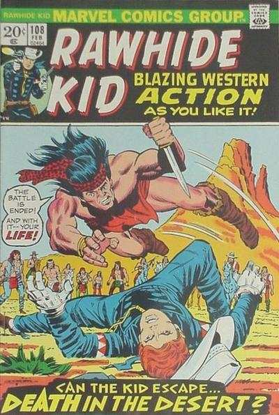 Rawhide Kid #108 comic books - cover scans photos Rawhide Kid #108 comic books - covers, picture gallery