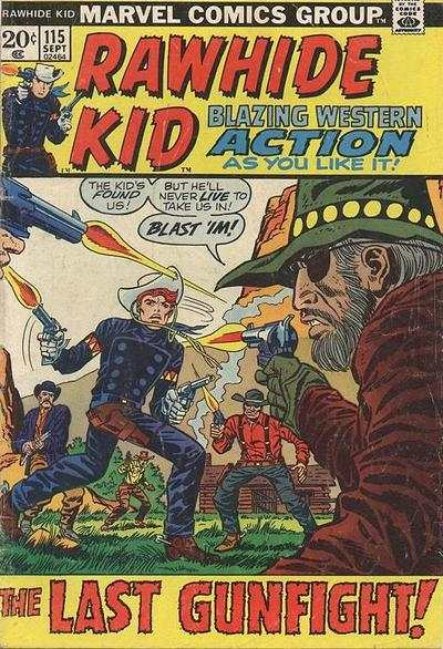 Rawhide Kid #115 comic books - cover scans photos Rawhide Kid #115 comic books - covers, picture gallery