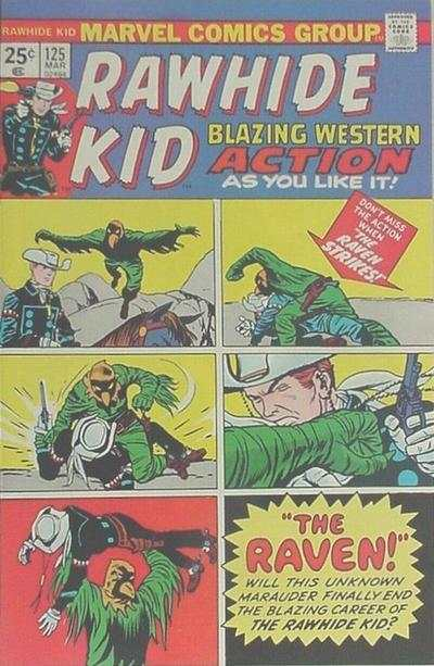 Rawhide Kid #125 comic books - cover scans photos Rawhide Kid #125 comic books - covers, picture gallery