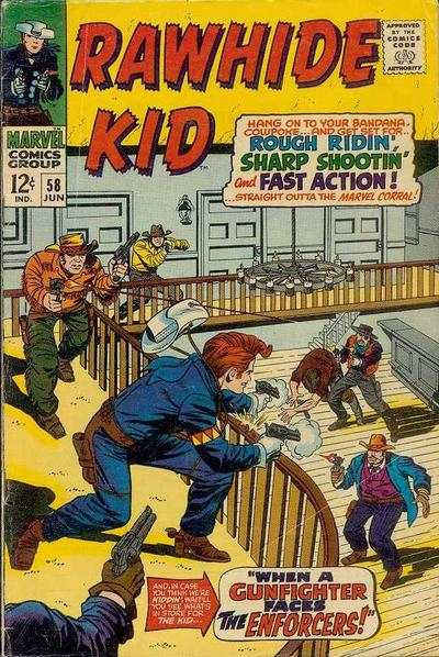Rawhide Kid #58 comic books - cover scans photos Rawhide Kid #58 comic books - covers, picture gallery